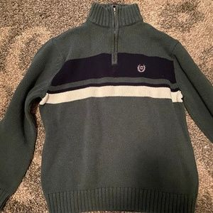 Boy's size L 10/12 green Chaps Turtle Neck Sweater